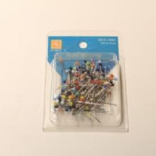 Box of 50 Glass Headed Dressmaker's Pins
